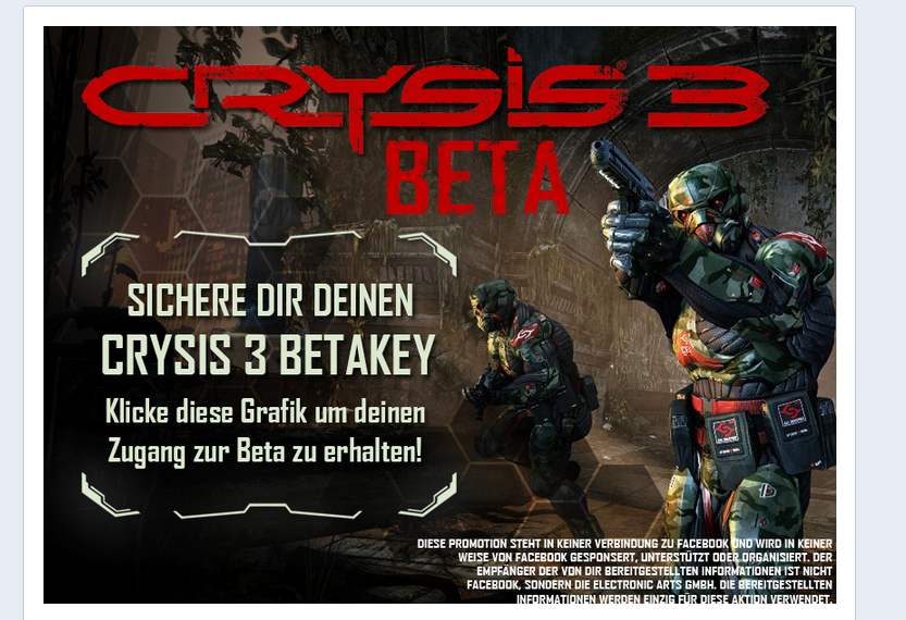 29 de Enero - Crysis 3 MP Beta Key - Origin