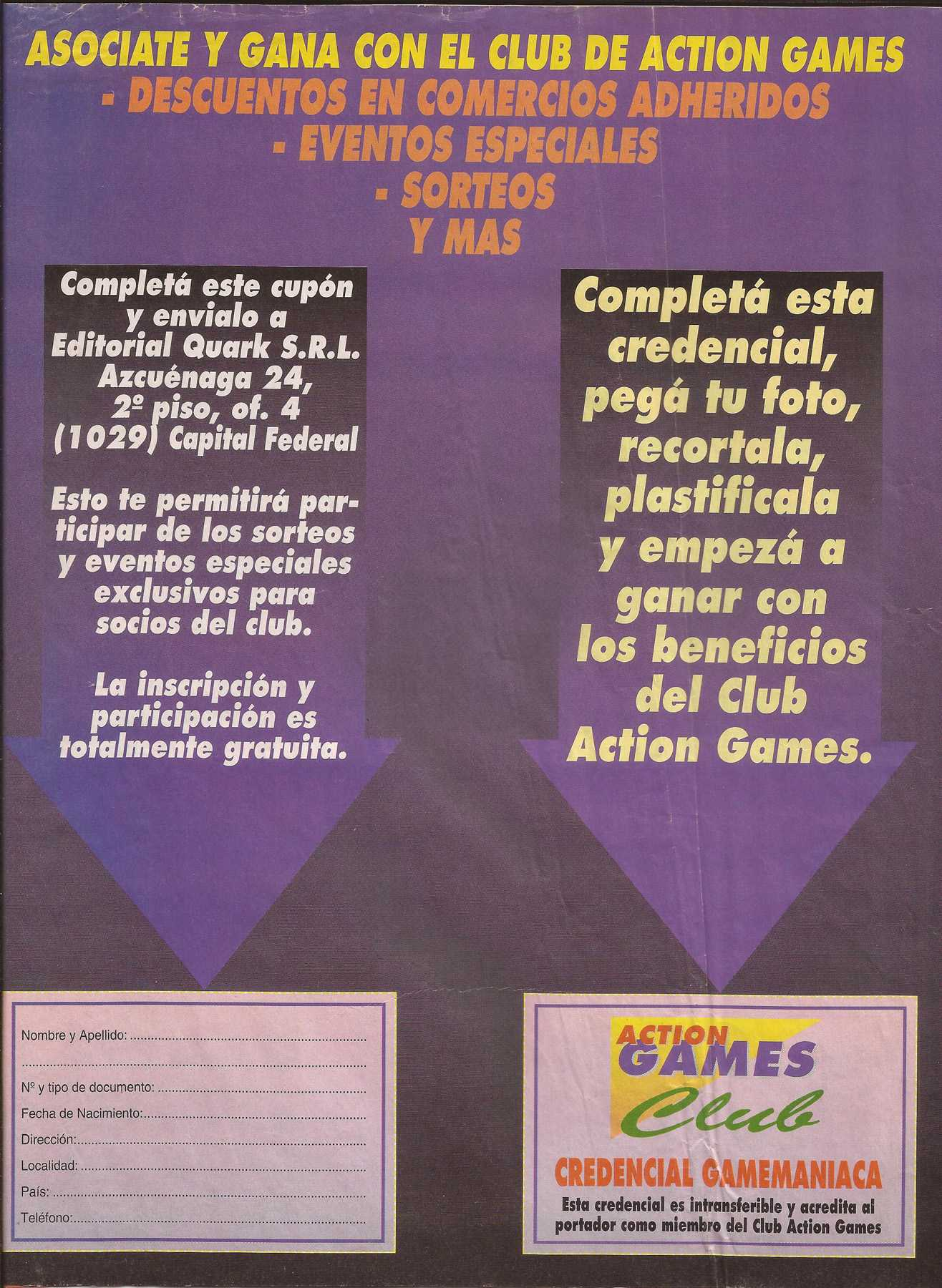 Mi 2da mejor revista (action games nro 19 escan)