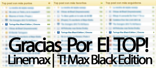 Taringa Max Black Edition | Chrome | Firefox |