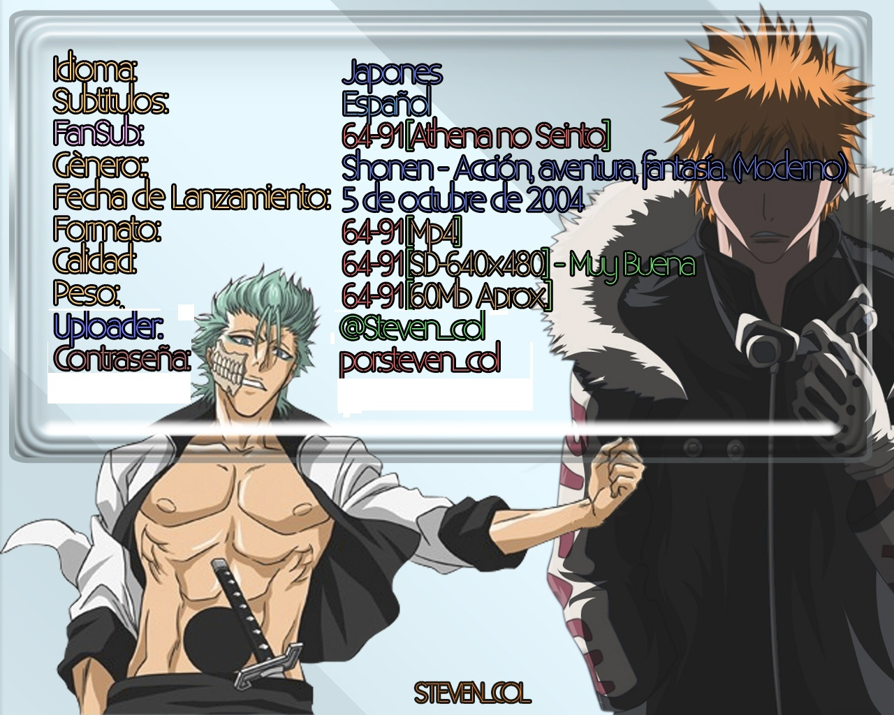 [Aporte] Bleach | Saga Bount [64-91]-[SD][Jap/Subs.esp]