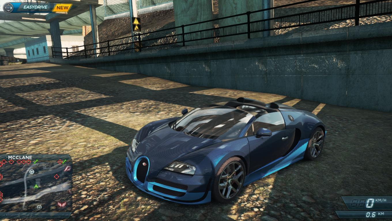 nfs most wanted bugatti veyron grand sport vitesse location need for speed most wanted bugatti. Black Bedroom Furniture Sets. Home Design Ideas