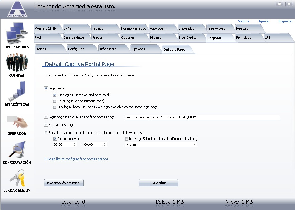 portal cautivo por software