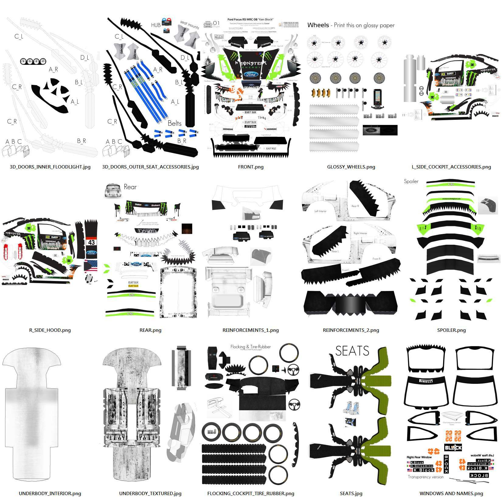 Ken Block Ford Papercraft images