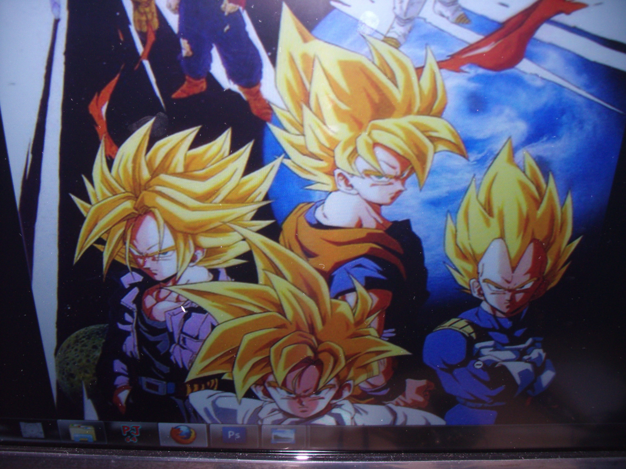 Mural los guerreros z dragon ball z part 1 im genes for Decoration murale dragon ball z