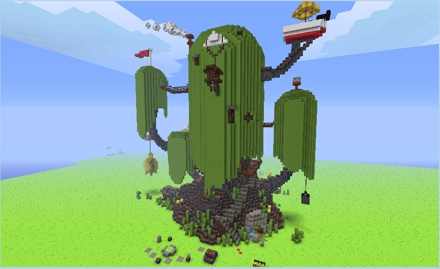 Minecraft adventure time map el mundo de ooo juegos - Casa del arbol minecraft ...